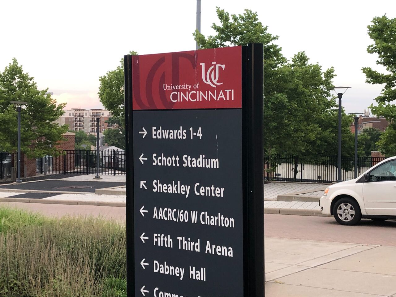 UC Campus signage Marge Schott