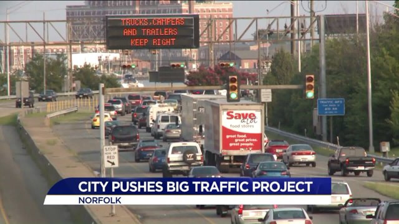 City of Norfolk pushing for bigger more expensive option to reduce traffic on HRBT