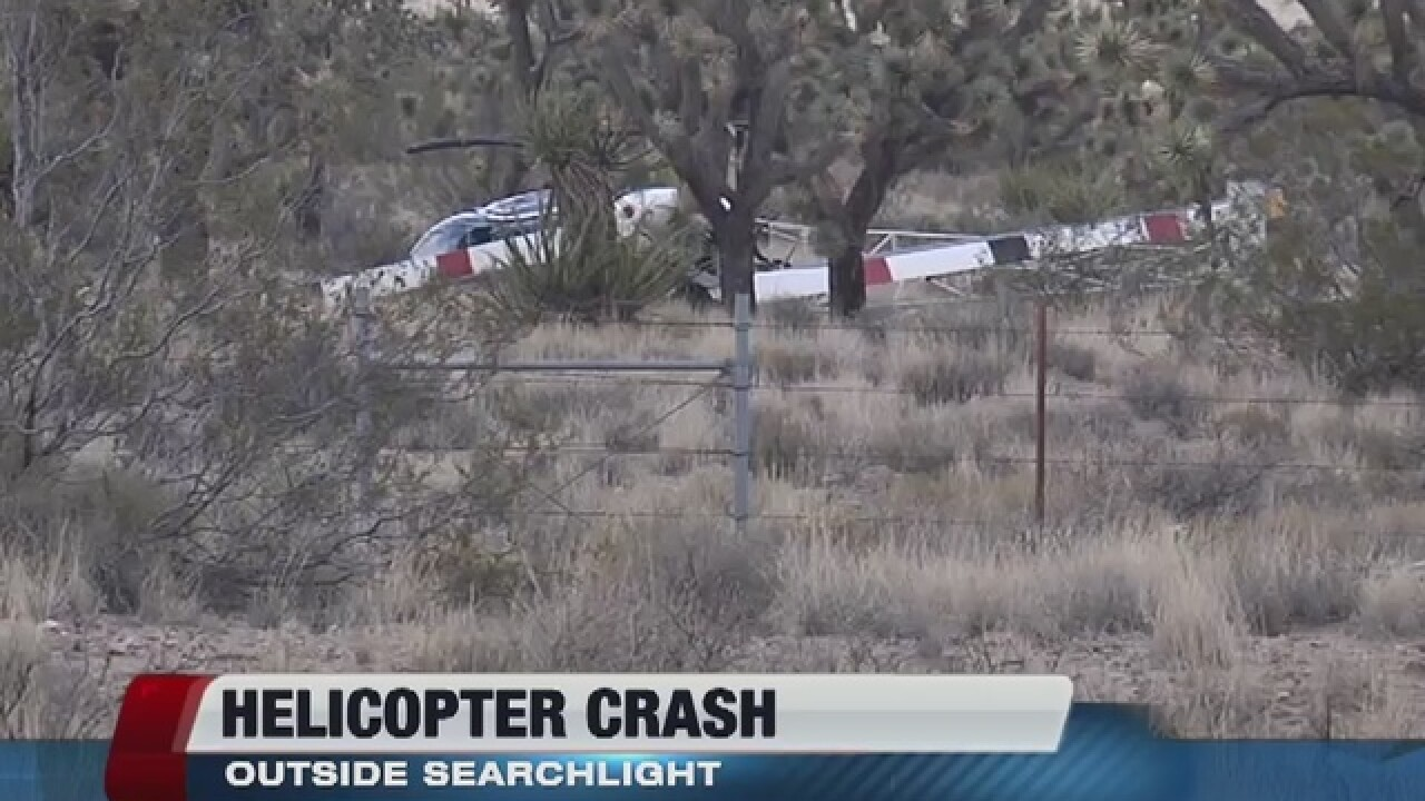 Helicopter crash reported near Searchlight