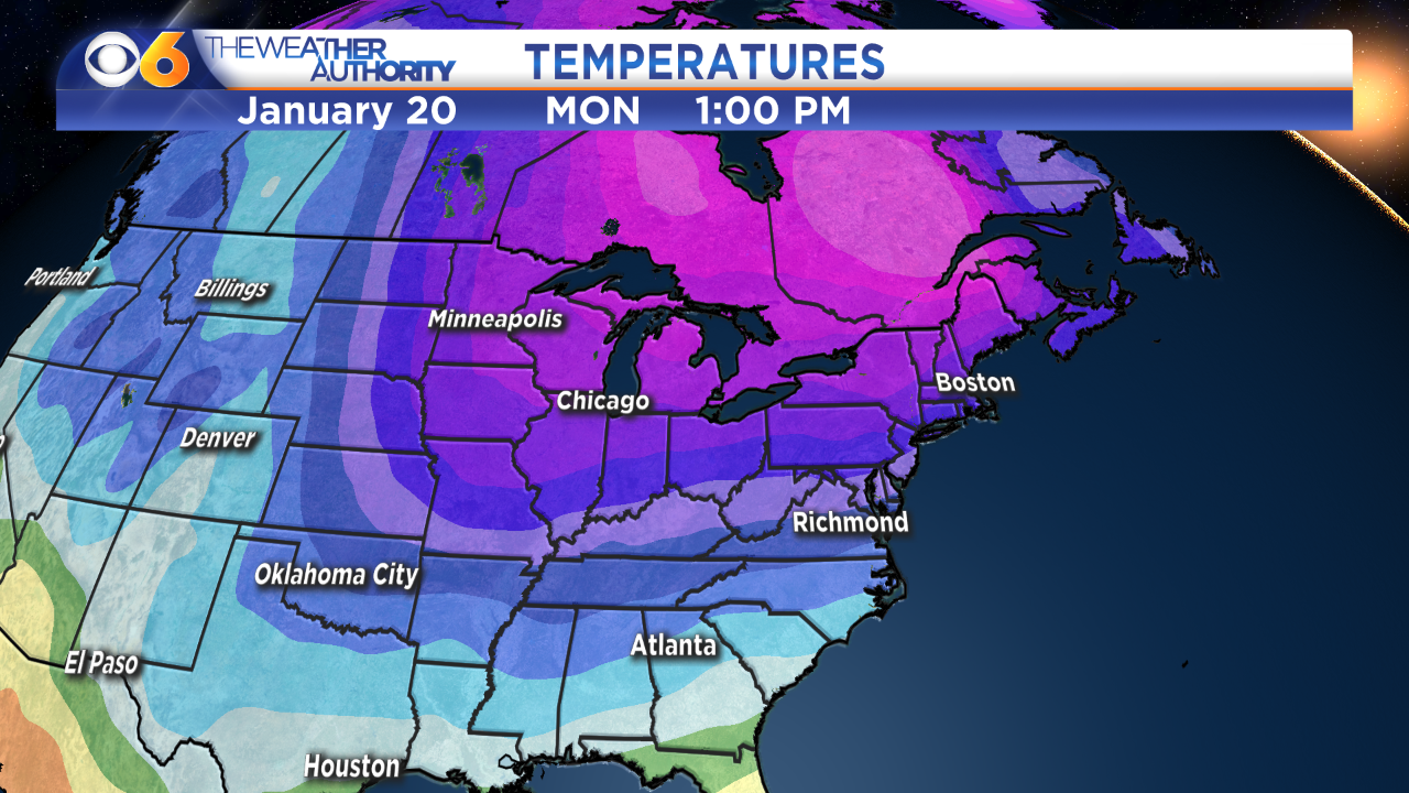 Colder pattern developing for the second half ofJanuary