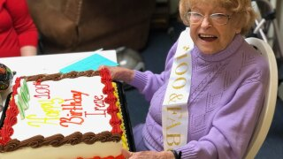 Michigan woman in senior home celebrates 100th birthday