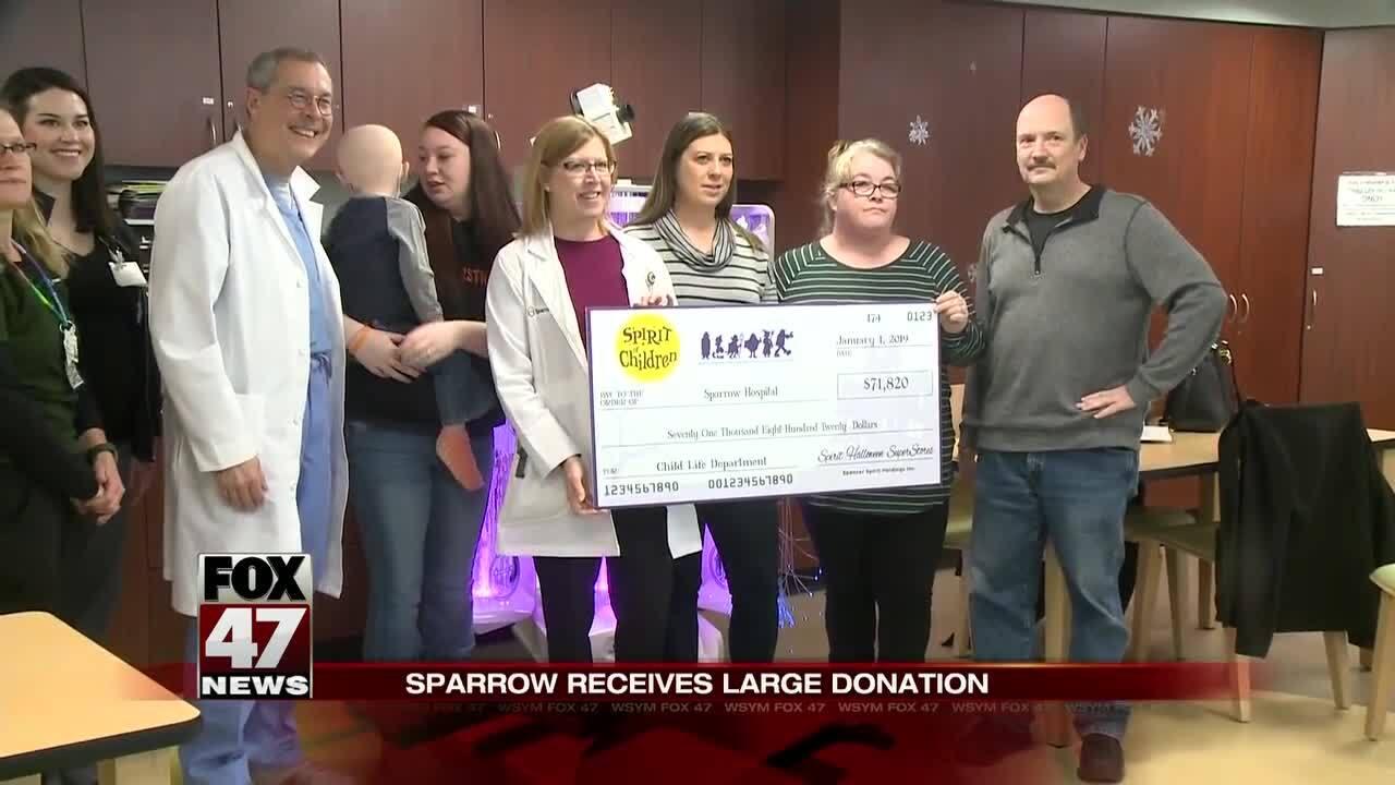 Sparrow Hospital donation