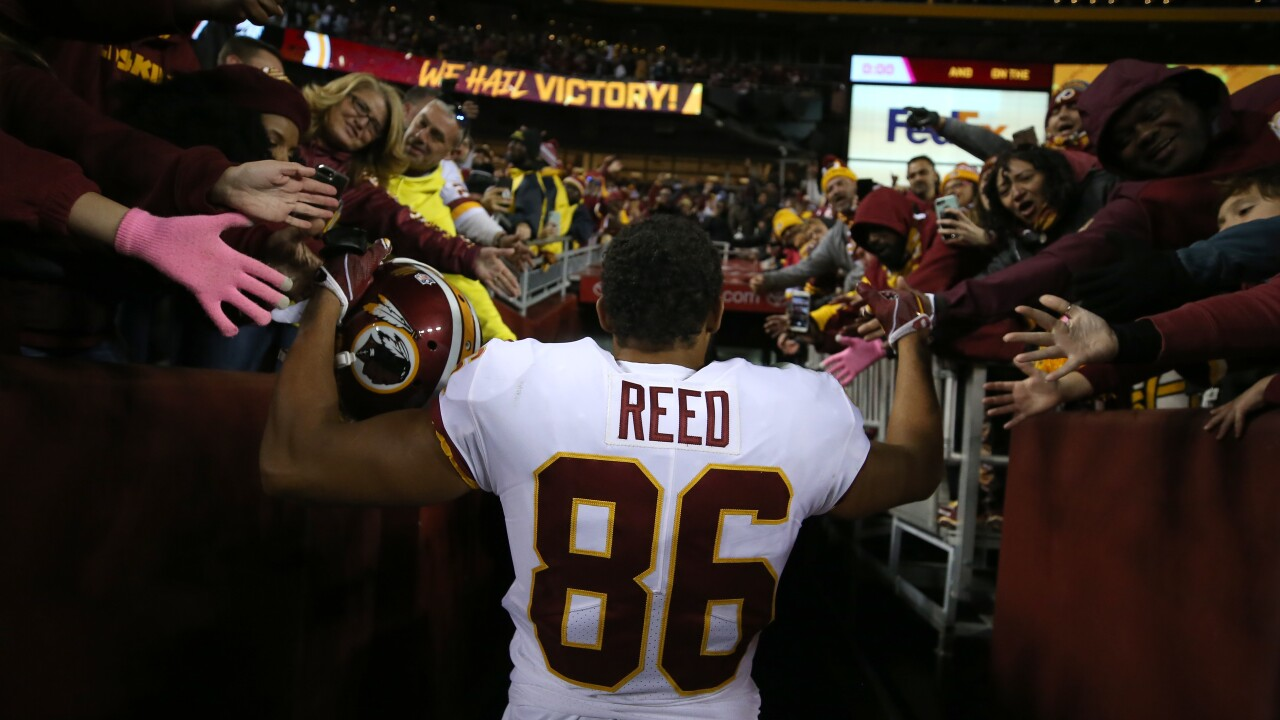 Redskins quarterback Case Keenum excited for tight end Jordan Reed's return