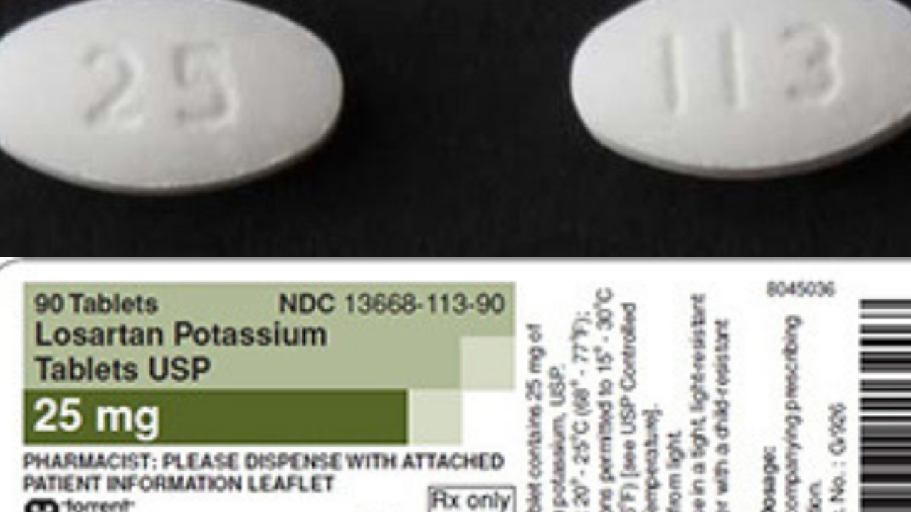 Losartan: Medication used to treat hypertension recalled due to
