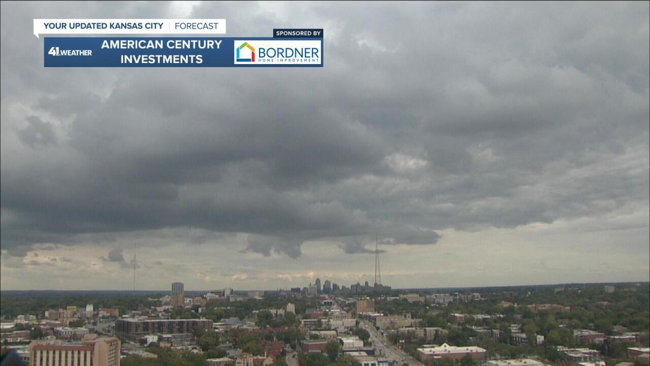Clouds move in!