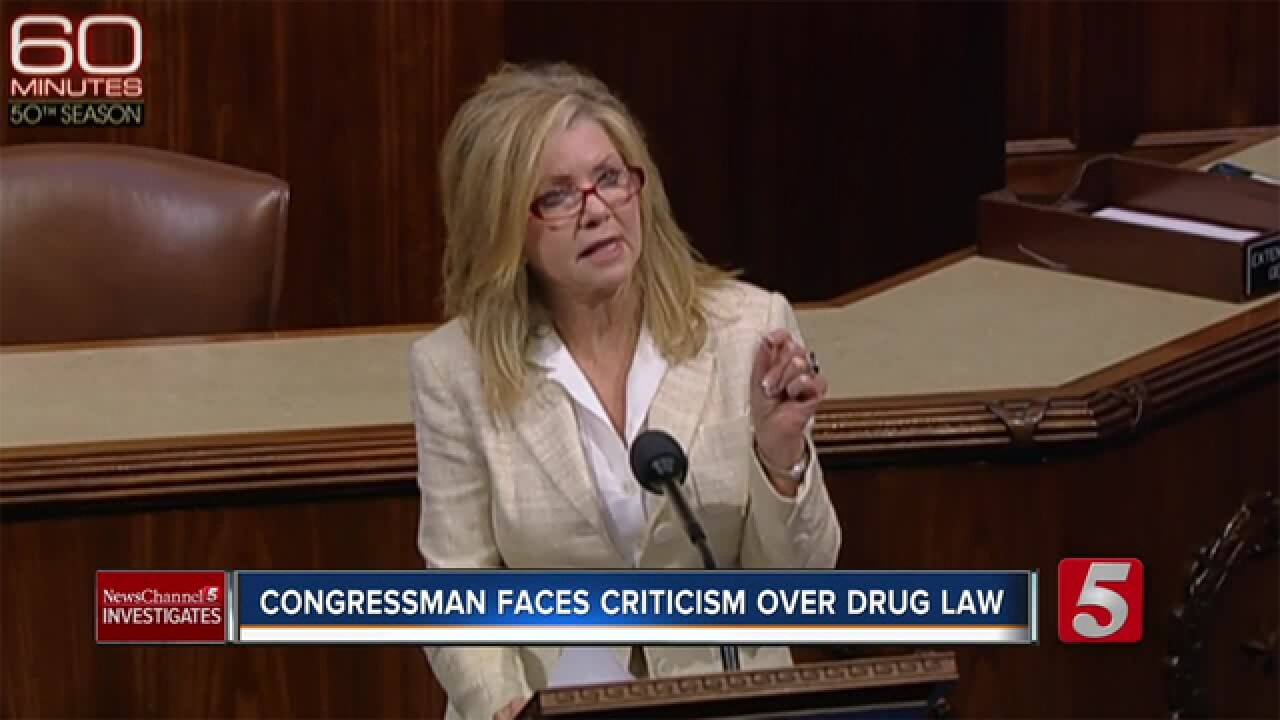 Blackburn Faces Criticism Over Federal Drug Law
