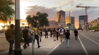 Tucson protesters began gathering near downtown about an hour before the 8 p.m. curfew was set to begin.