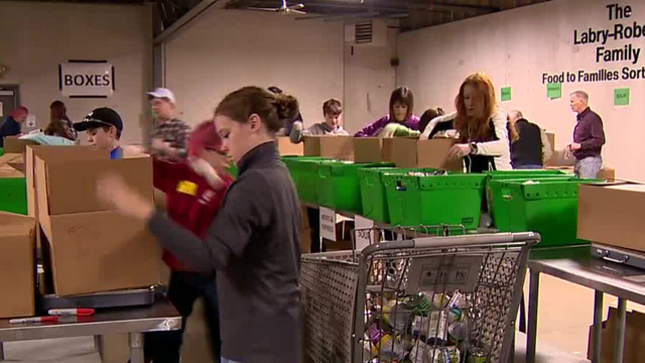 Organizations Gather Food For Elderly For Christmas