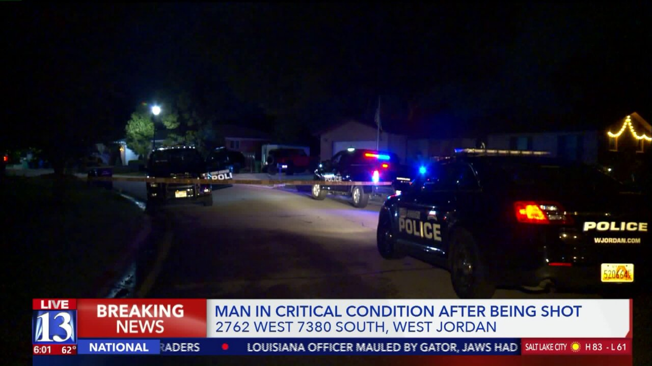 Man in critical condition after shooting in West Jordan