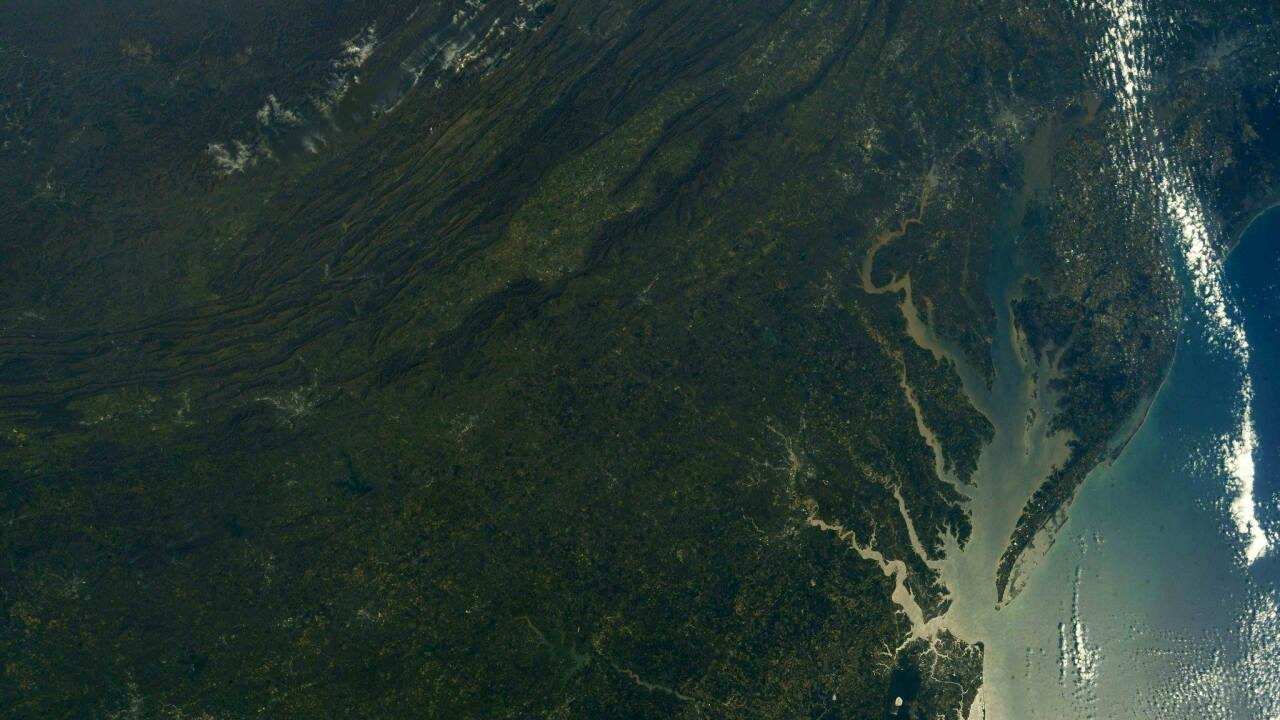 Astronaut snaps photo of Eastern Shore from space