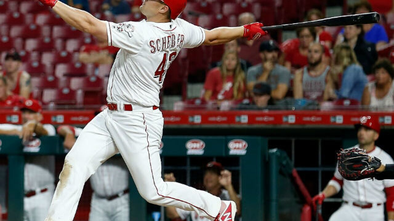 Scott Schebler's club-record grand slam leads Reds over Padres 12-6