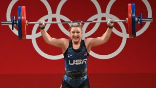 Kate Nye shakes off shocking error, wins first U.S. weightlifting silver in 45 years