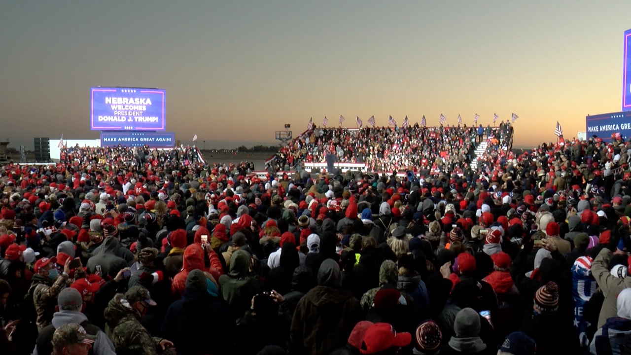 Trump Omaha rally: 7 taken to hospital, others needed medical help in freezing temperatures