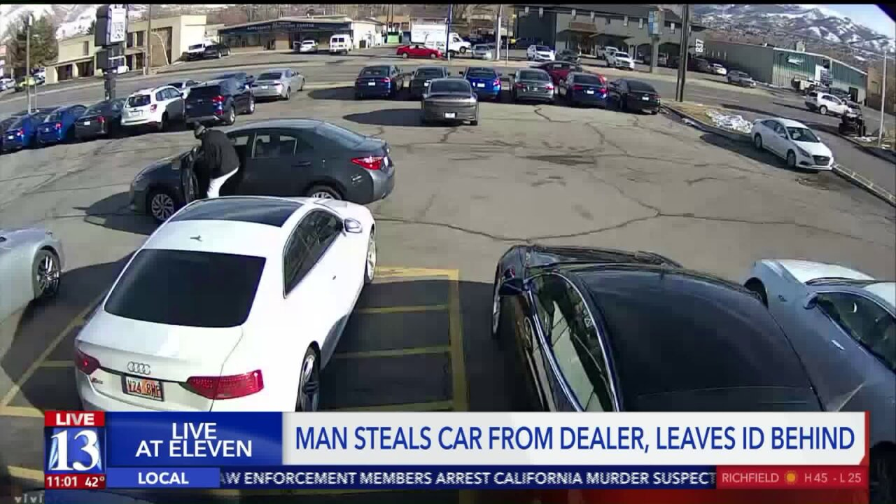 Man stole car but left his ID behind, policesay