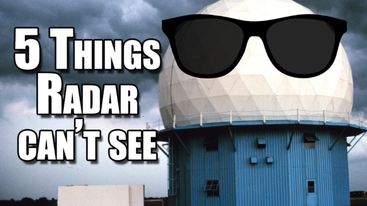 5 things weather radar can't detect