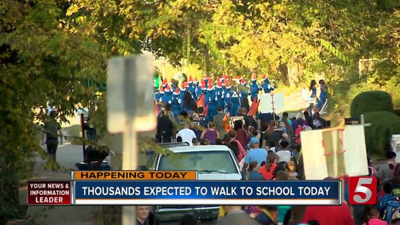 Wednesday Marks National Walk To School Day