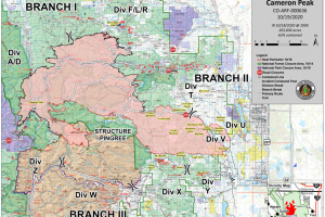 Cameron Peak Fire map Oct 19 2020