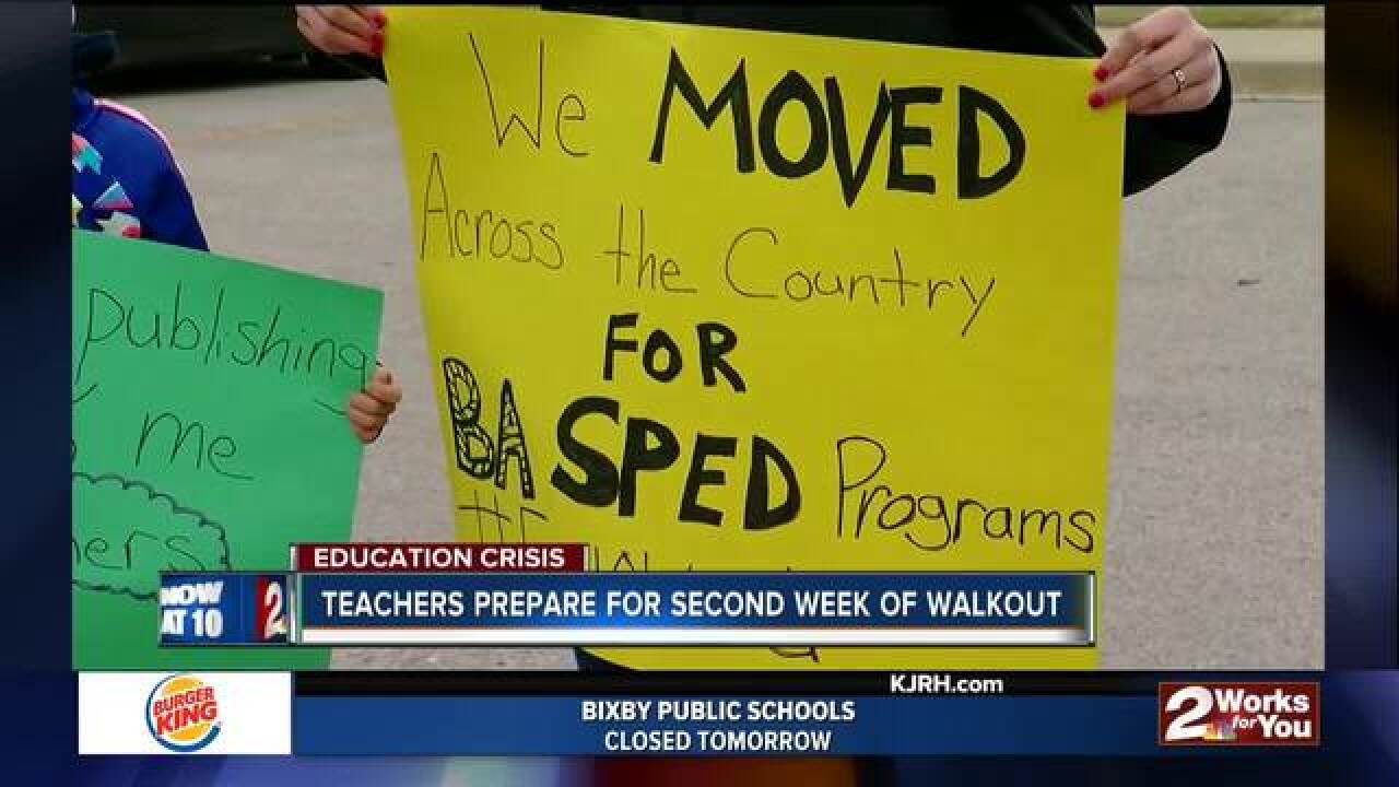 Teacher Walkout continues Mon. at State Capital