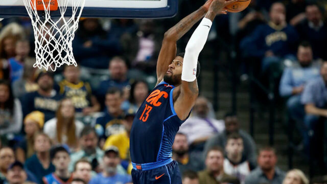 Pacers fall to Thunder 100-95 in Paul George's return to Indy