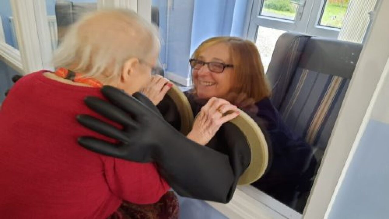 Nursing Home Created 'hugging Mitts' So Families Can Safely Interact During The Pandemic