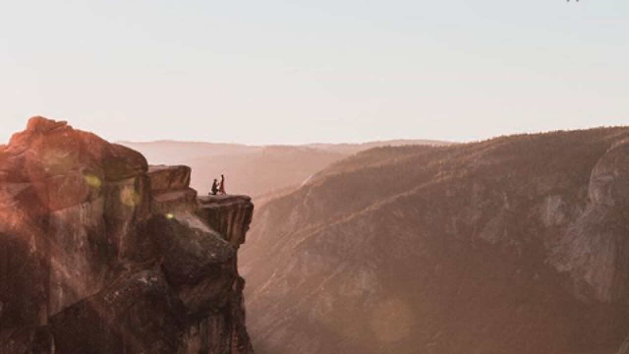 Photographer searching for mystery couple in Yosemite engagement photo
