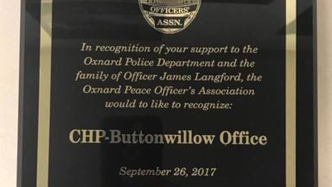 CHP Buttonwillow honored for services to officer