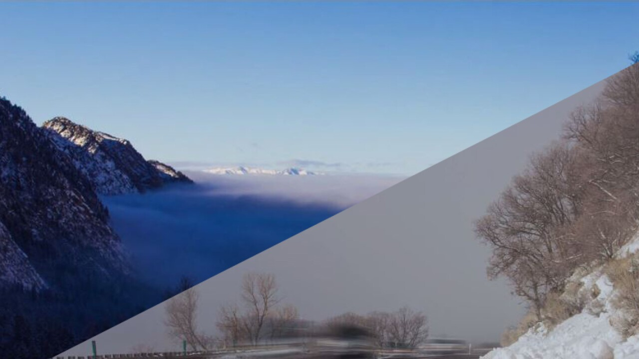 Time lapse shows inversion conditions starting to form over Salt Lake Valley
