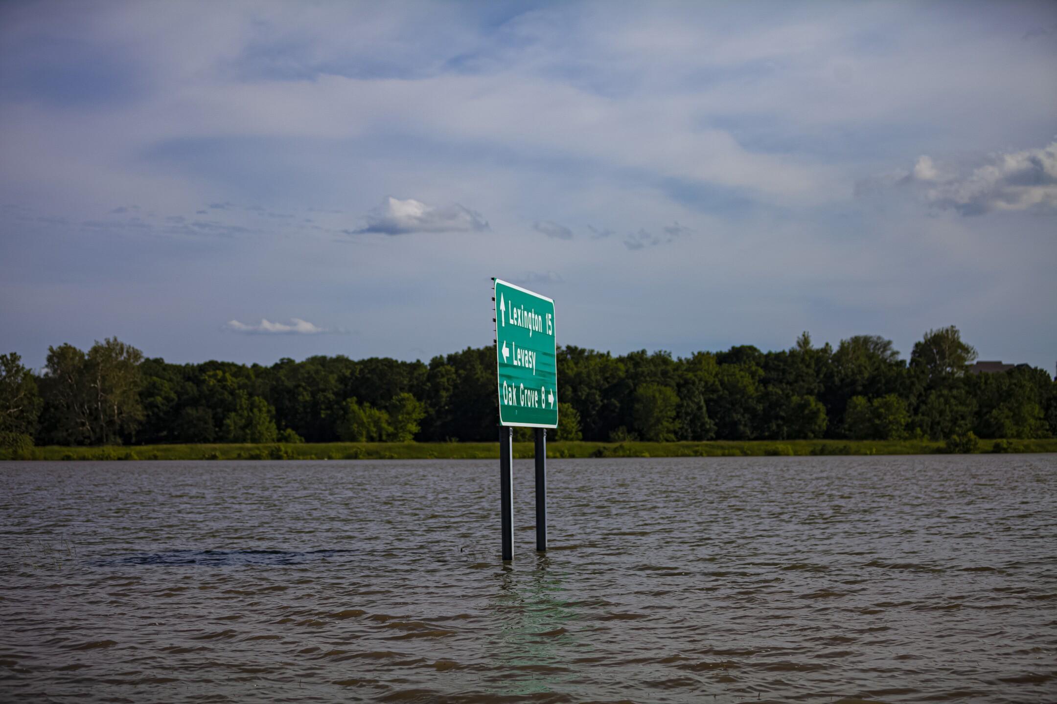 PHOTOS: Flooding devastates small town of Levasy, Missouri