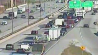 Pedestrian hit by semi on I-94