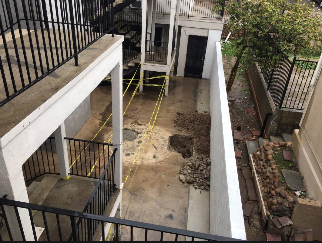 City Heights apartment flood