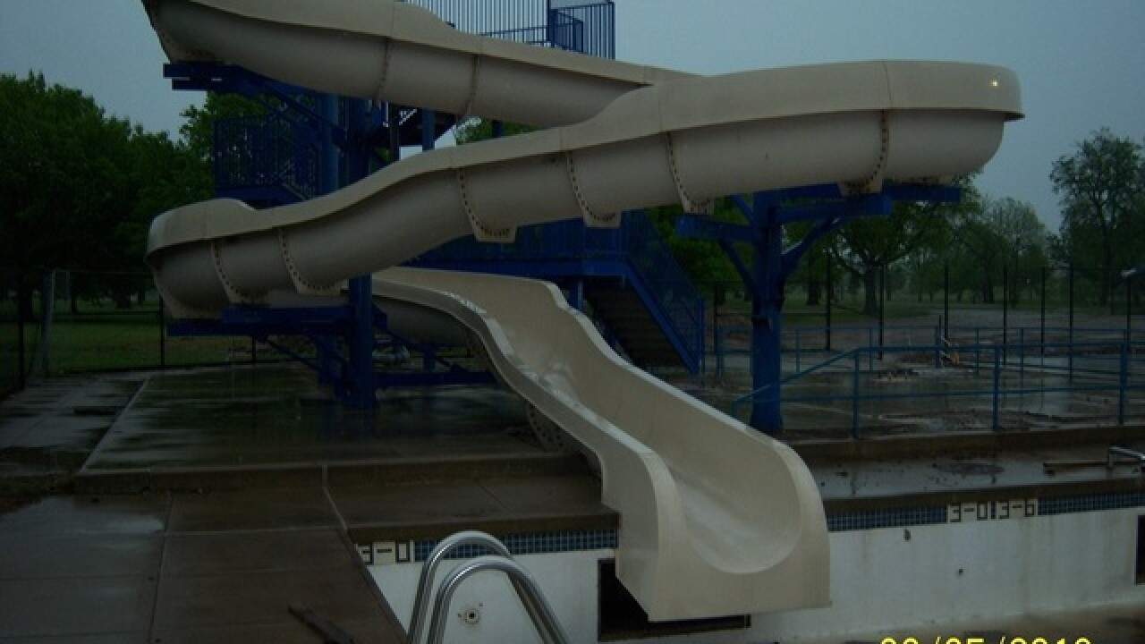 Water slide among items available at city surplus auction