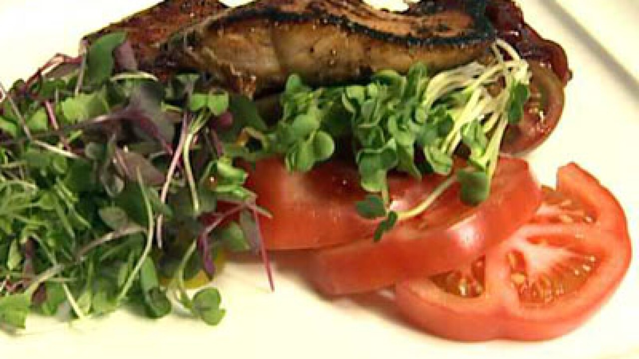 Caramelized Salmon Salad (09.07.12)
