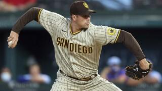 Padres Rangers Baseball craig stammen