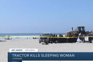 Oceanside police: Woman run over, killed by heavy machinery on beach