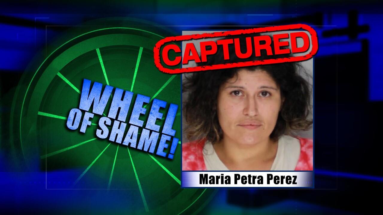 Wheel Of Shame Arrest:  Maria Petra Perez