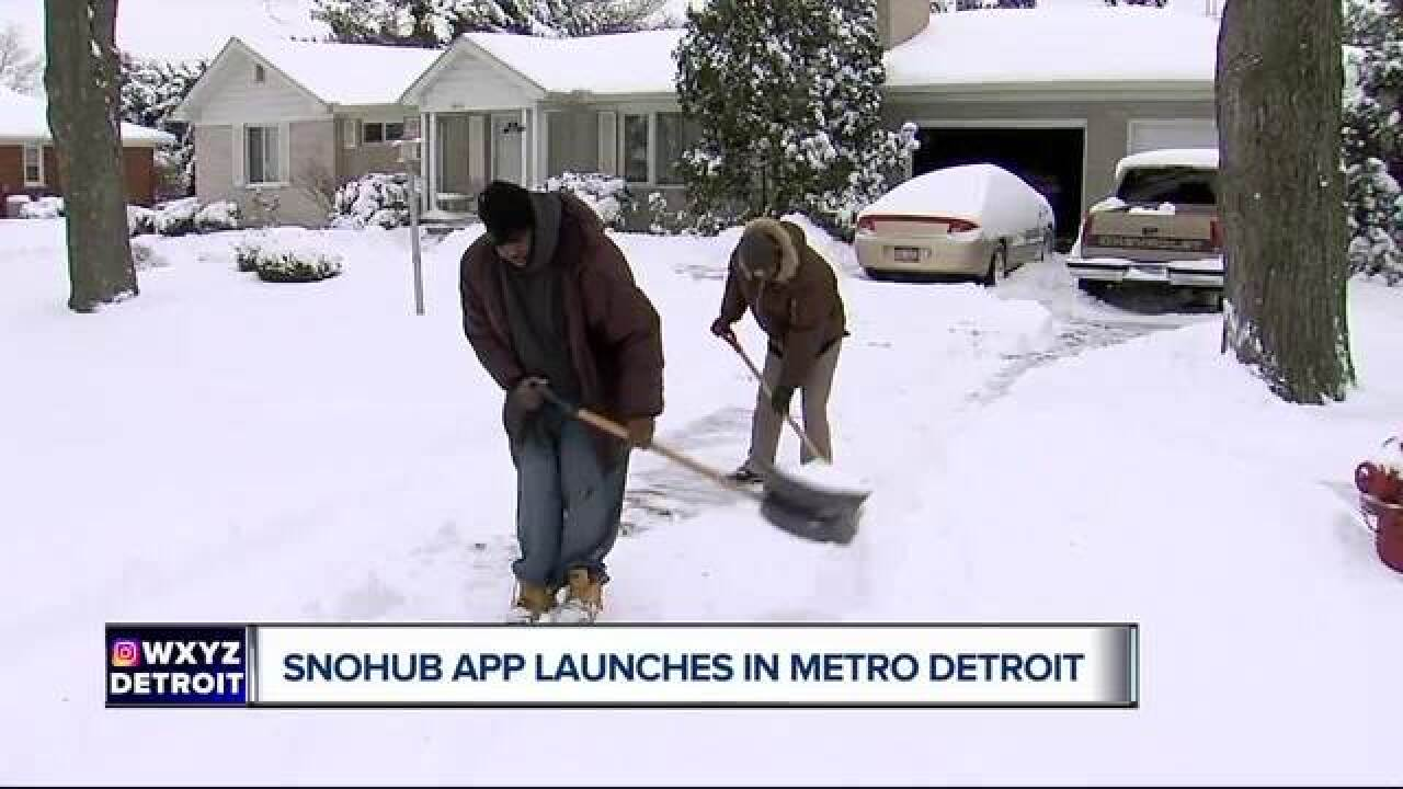 Don't want to shovel? No problem, there's an app