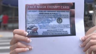 ADA face mask exempt card
