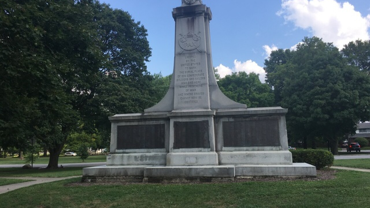 Confederate monument still standing at Indy park