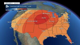 June temperature outlook for the U.S.