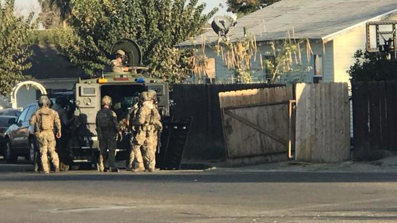 SWAT presence in Taft for sighting of possible suspect wanted for several felony warrants
