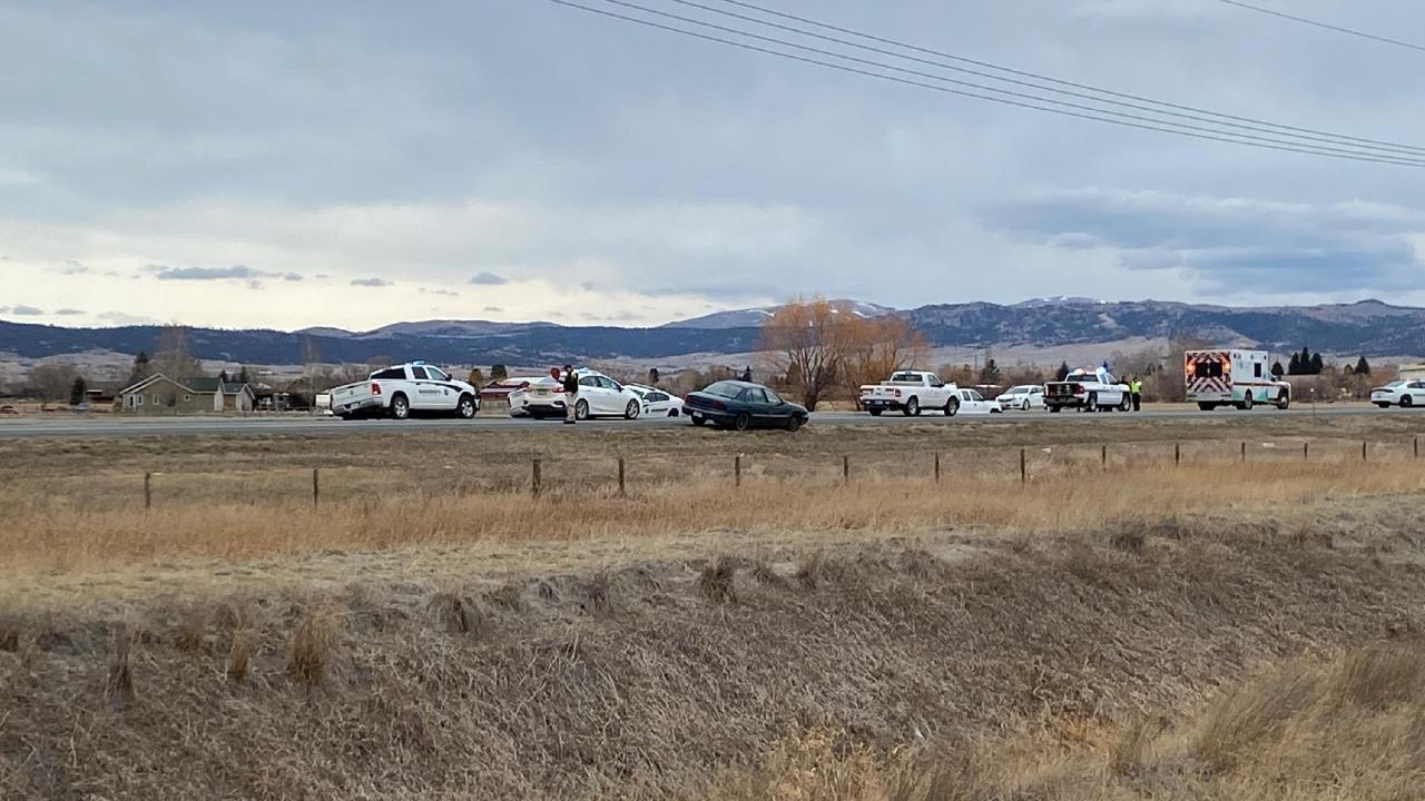The Montana Highway Patrol (MHP) is reporting that at least one person has died in a crash north of Helena.