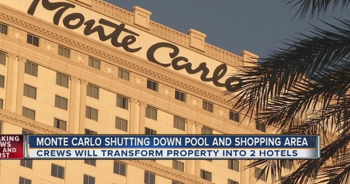 Monte Carlo Hotel Las Vegas >> Monte Carlo Pool Shops Closing In October Ahead Of New Hotels