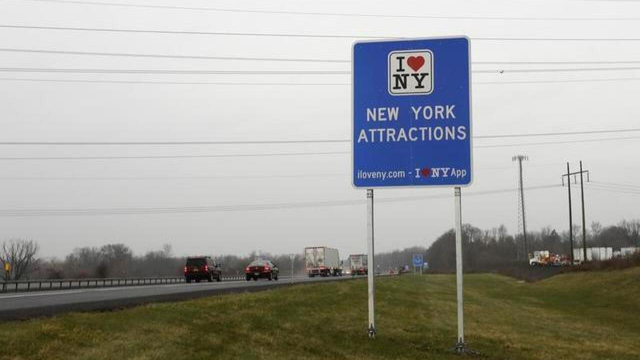 "Crews removing ""I Love NY"" signs from Thruway"