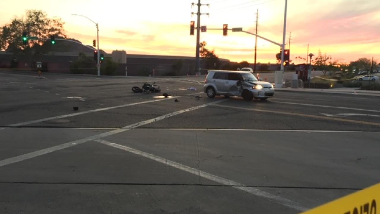 Deadly motorcycle crash at 64th St and Thomas