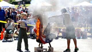 Boy Scout Flag Retirement Ceremony