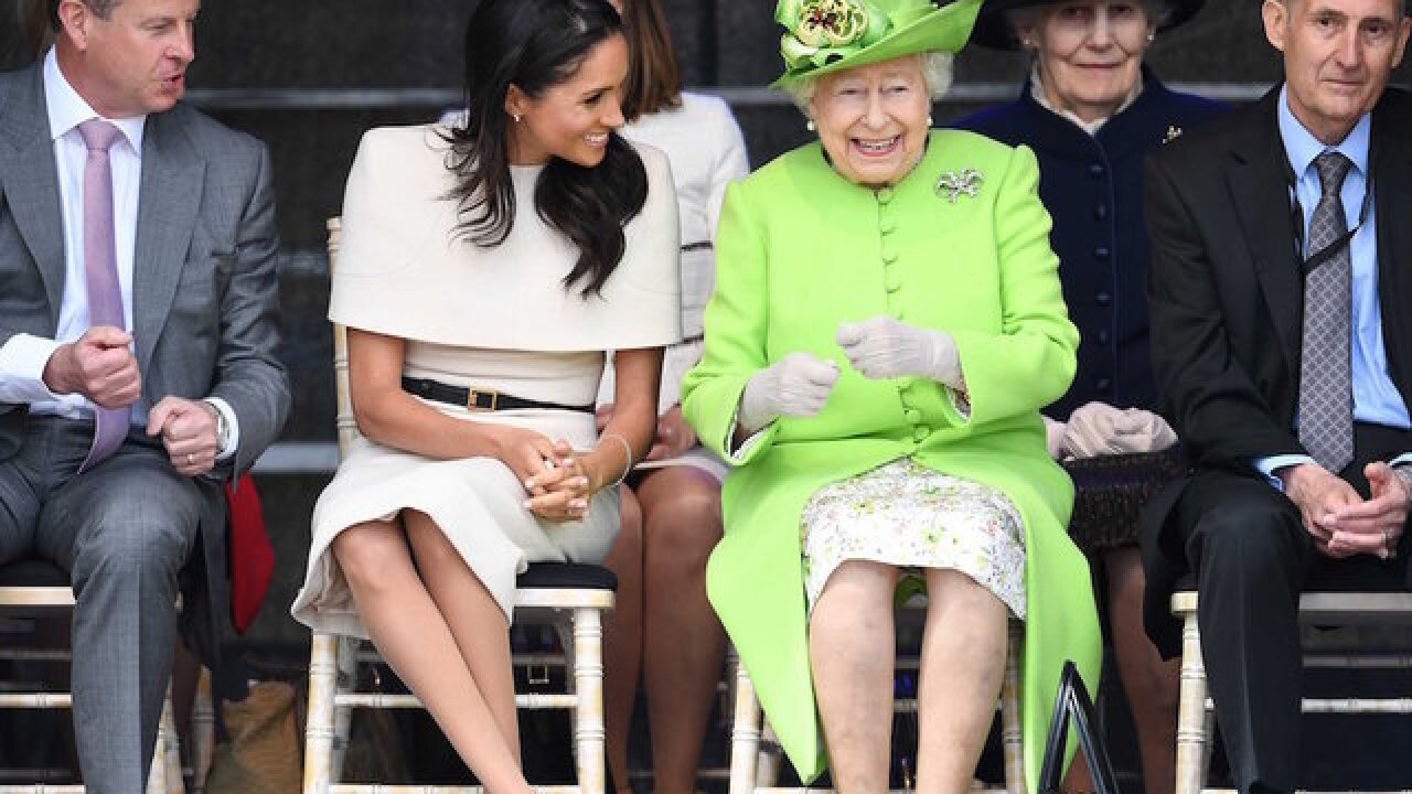 Meghan Markle joins the Queen of England for joint royal outing