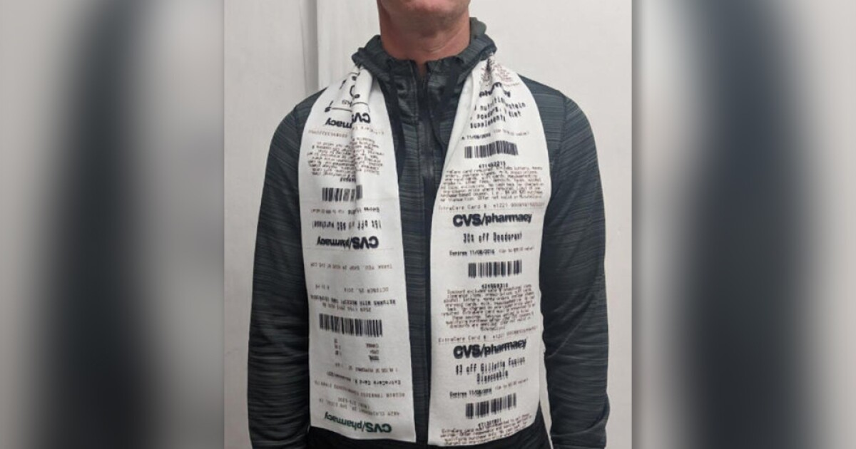 CVS receipt scarves are the fashion trend we didn't know we needed in 2020