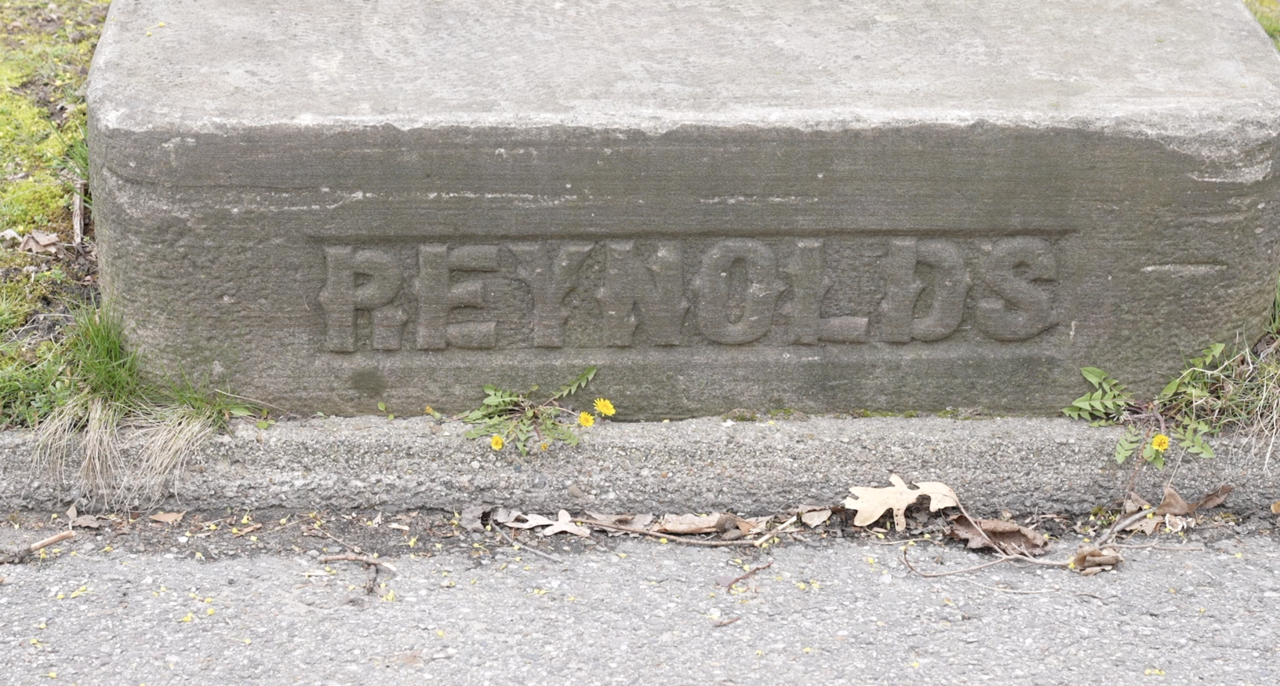 Carriage block in front of the Reynolds home