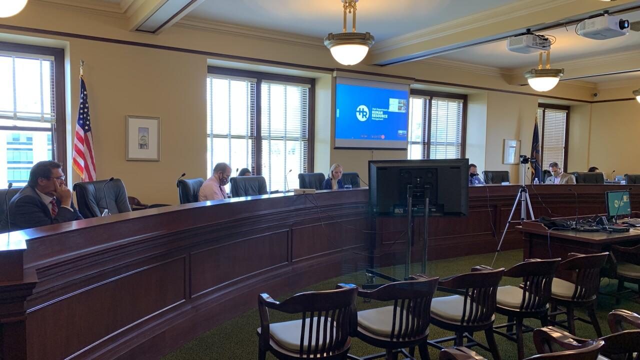 Utah State Legislature interim socially distant meeting