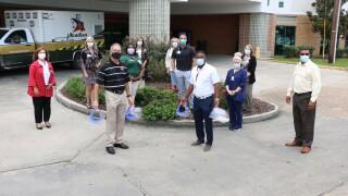 jp thibodeaux donates masks.JPG